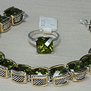 John Hardy Style Peridot Bracelet and Ring