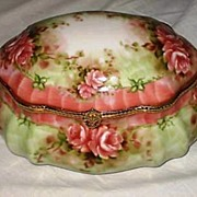 Large Limoges Porcelain Dresser Vanity Box