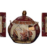 Satsuma China Biscuit Jar Set