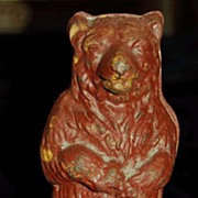 Cast Iron Standing Bear Dime or Still Bank