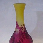 Cameo Glass Vase Signed Galle