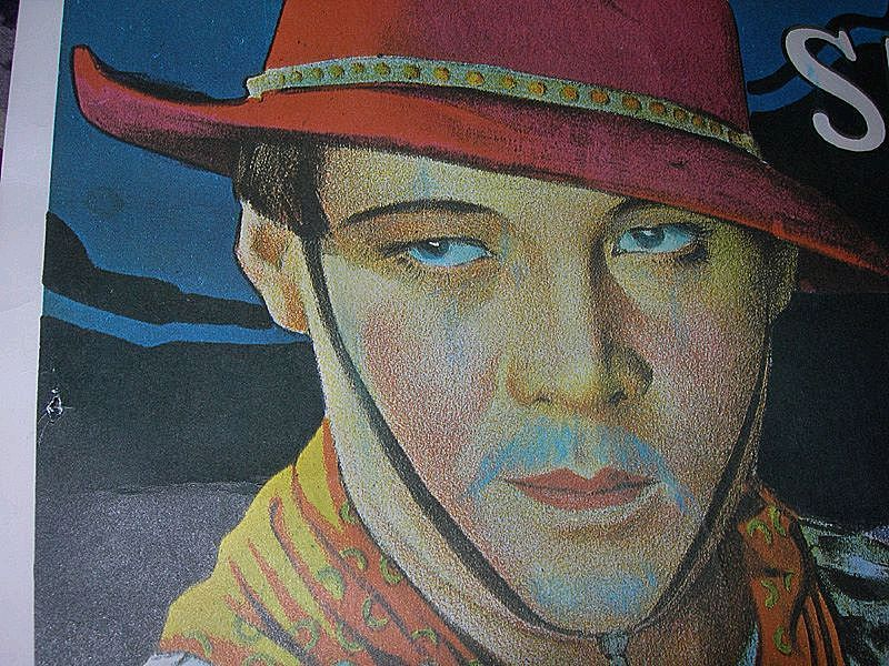 1924 Rudolph Valentino Movie Poster 'The Sainted Devil'