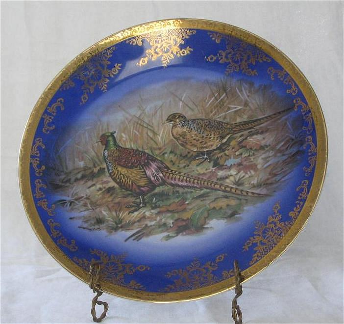 Fake Royal Vienna Pheasant Decorated Plate