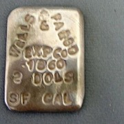 Wells Fargo Marked Silver Trade Ingot