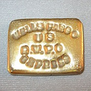 Wells Fargo Commemorative Gold Trade Ingot