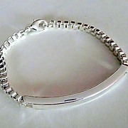 Sterling Silver Venetian Link and Bar Bracelet