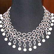 Almost Trifari - Fishnet Necklace