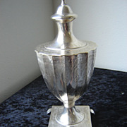 Etched Silver Plated Colonial Sugar Urn