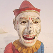 Cast Iron Humpty Dumpty Mechanical Clown Bank