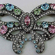 Colorful Eisenberg Reproduction Bow Brooch