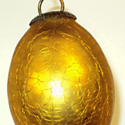Gold Glass Kugel Christmas Ornament