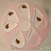 Pink and White Oyster Plate
