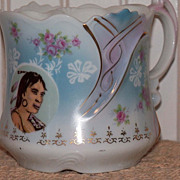 Vintage Shaving or Mustache Mug with Native American