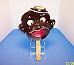 Black Man Character Vintage Hand Fan