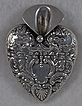 Sterling Silver Heart Shaped Posey Holder Brooch Tussie Mussie