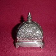 Domed Ornate Silverplate Ring Casket Box