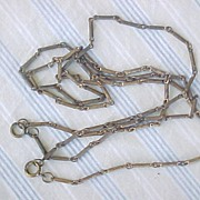 Victorian brass chain with two spring clasps