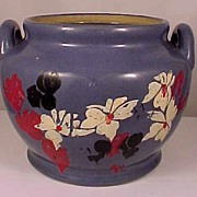 Vintage Periwinkle Blue American Art Pottery Planter Pot
