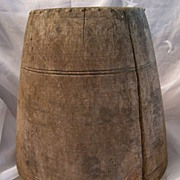 Old Butter Churn Container Made From A Tree