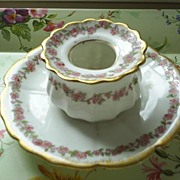 Limoges, CFH,GDM Fine Porcelain Bowl/Attached Plate