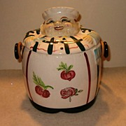 Chef Pottery Biscuit Jar
