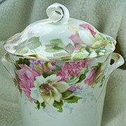 Beautiful Hand Painted Lidded Jar Jaeger & Co Bavarian