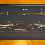 Original Blue Print of Golden Gate Bridge