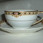 Nippon Noritake Tea Cup and Saucer