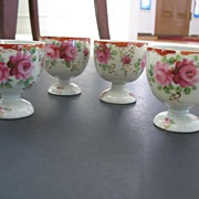 Porcelain Flowered Egg Cups