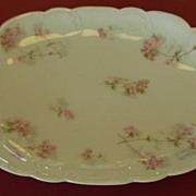Haviland & Co. Limoges France Pink Flowered Platter