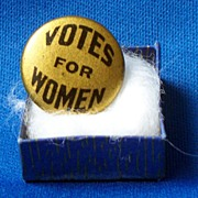 "Bastian Bros NY ""Votes for Women""  Suffrage Pin"