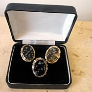 Vintage Mexican Sterling Silver Ring & Earrings Set