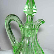 Small Cruet, Green Depression Glass