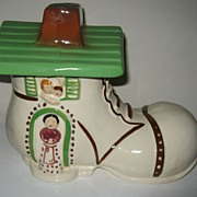 Vintage Shoe House Cookie Jar