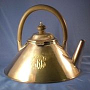 Nouveau Silverplate Monogrammed Tea Pot