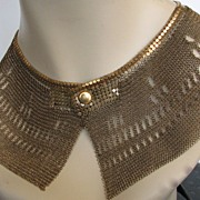 Whiting Davis? Necklace? Clothing Bib? 1912-1920s?