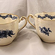 White and Blue Cup Pair