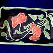 Early Majolica  Porcelain Dresser Tray