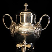 SILVER Quadruple Plate Coffee / Tea Urn FRB Silver Co?