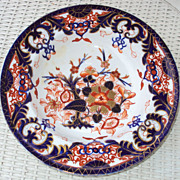 Imari Bowl over 100 years old &quot;inventive staple repair&quot;