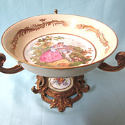 Antique Hand-Painted French Sevres China Centerpiece