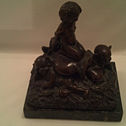 19th Century Irish Folklore Bronze