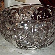 Heavy  Glass Bowl, Victorian