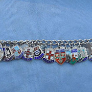 Silver and Enamel Charm Bracelet