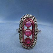 Ruby and Diamond Ring, Edwardian