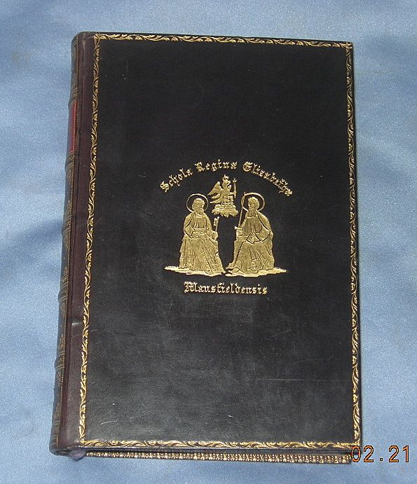 The Poetical Works of John Milton, Leather Bound Prize Book, Edwardian