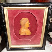 Wax Portrait Miniature of Napoleon, Victorian