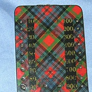 Tartan Game Counter, Victorian