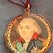 Georgian Portrait Miniature on Ivory,Pendant,18 ct, hairwork