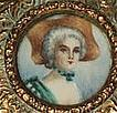 French Brass Box with Portrait Miniature on Ivory
